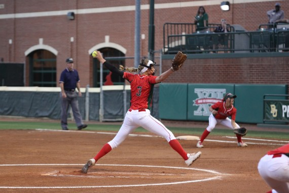 Abby Pitching at Baylor